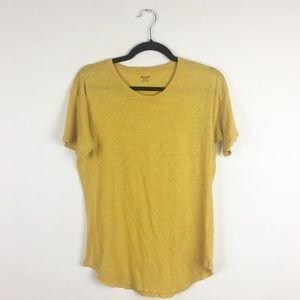 Madewell Mustard Yellow Scoop Beck T-Shirt